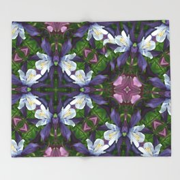 Bartram's Blossom Throw Blanket