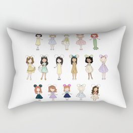 Princess Bounding Rectangular Pillow