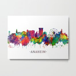 Anaheim California Skyline Metal Print