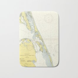 Vintage Map of The Outer Banks (1942) Bath Mat