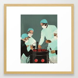 """Is Artificial Intelligence Permanently Inscrutable?"" by Emmanuel Polanco for Nautilus Framed Art Print"