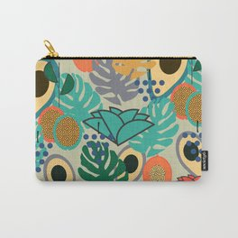 Monstera, fruits and flowers Carry-All Pouch