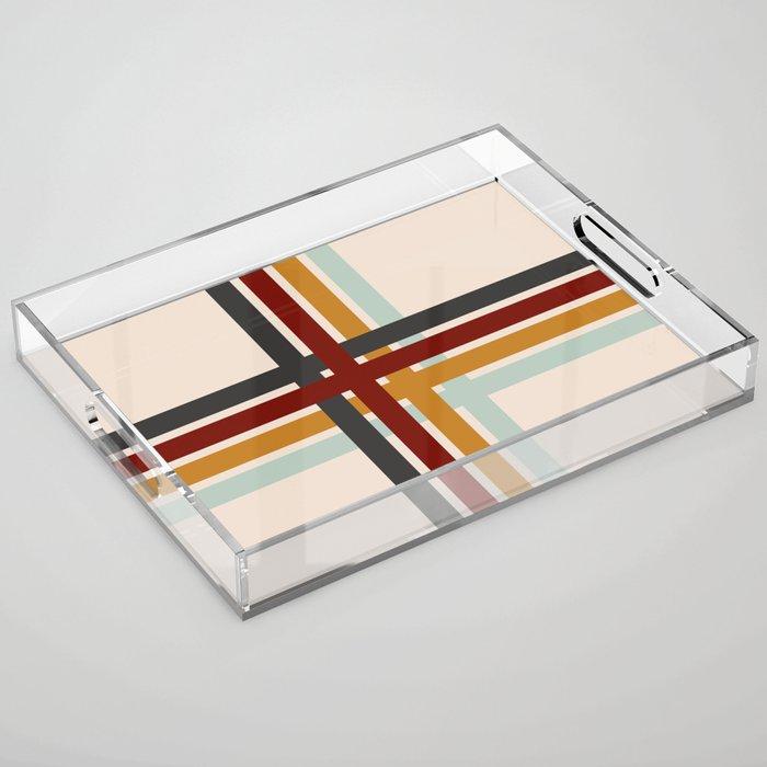 Colored Retro Cross Acrylic Tray