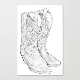 Cowboy Boots Canvas Print