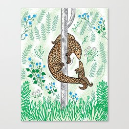 Pangolin Parenting Canvas Print