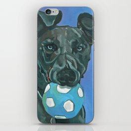 Fly the Whippet Dog Portrait iPhone Skin