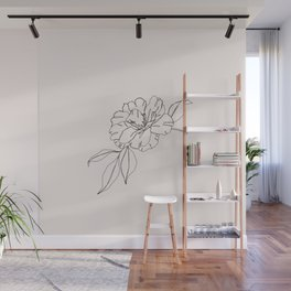Tropical flower illustration - Mona I Wall Mural