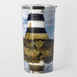 Penmon Lighthouse Painting Travel Mug