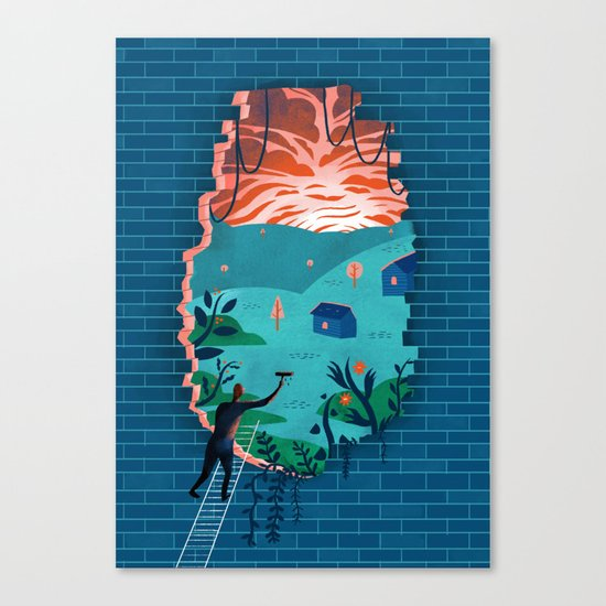 Ins and outs Canvas Print