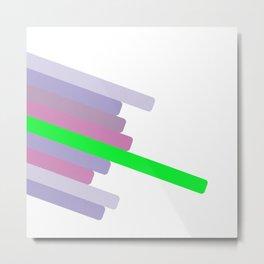 Modern abstract color lines #society6 #decor #buyart #artprint Metal Print
