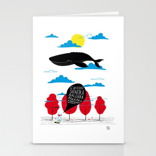 CIAO SIGNORA BALENA Stationery Cards