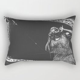 Sharon Jones Live B&W Rectangular Pillow