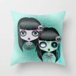 Zombie Doll The Dark Side Throw Pillow