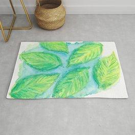 Natalie's Falling Green Leaf Rug