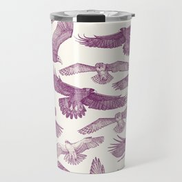 birds of prey purple Travel Mug