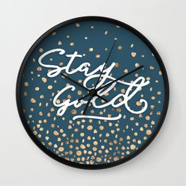 Stay Gold - Golden Drops Wall Clock