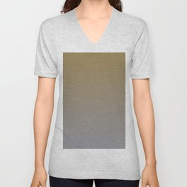 Gray Brown Ombre Gradient Blend 2021 Color of the Year Ultimate Gray & Accent Shade Unisex V-Neck