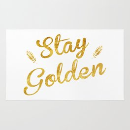 Stay Golden Rug