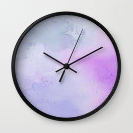 Soft Watercolours - Lavendar Wall Clock