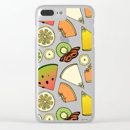 Tropical Fruit Pattern Clear iPhone Case