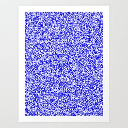 Tiny Spots - White and Blue Art Print