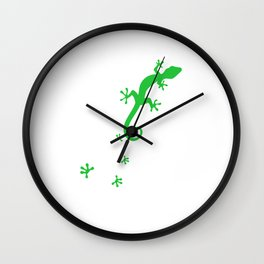 Gecko Footprint Reptile Reptiles Lizard Pet Gift Wall Clock