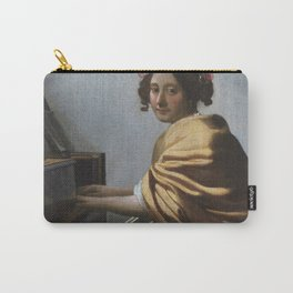 """Johannes Vermeer """"A Young Woman Seated at the Virginal"""" Carry-All Pouch"""