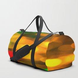 Colorful Bokeh Beautiful light #decor #society6 Duffle Bag