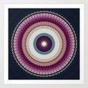 Decorative Wine Dark Blue Mandala by artaddiction45