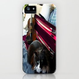 The Cat and the Fiddle (Gracie Queen of Chicago Collection) iPhone Case