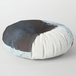 Like A Gentle Hurricane [2]: a minimal, abstract piece in blues and white by Alyssa Hamilton Art Floor Pillow
