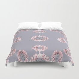 Pale pink wildflowers Duvet Cover