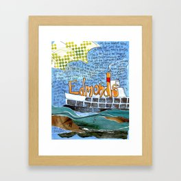EDMONDS, WASHINGTON the town and the adventures by Seattle Artist Mary Klump Framed Art Print