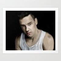liam payne Art Prints featuring Liam Payne by Ismay