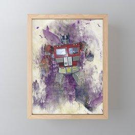 G1 - Optimus Prime Framed Mini Art Print
