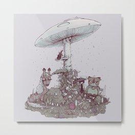 Rain of Spores Metal Print
