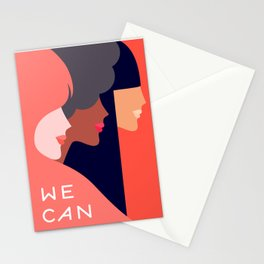 Together, we can  #girlpower Stationery Cards