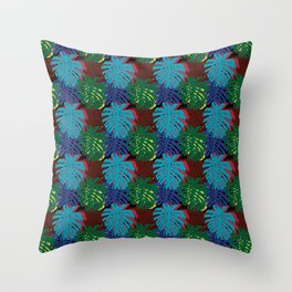 Botanical Leaves Throw Pillow