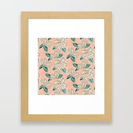 Dahlia -muted colors Framed Art Print
