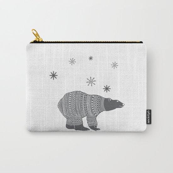 Polar bear - Animal watercolor illustration Carry-All Pouch