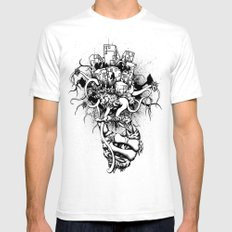 Or the Bad News First White Mens Fitted Tee SMALL
