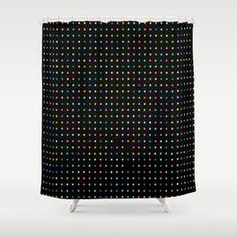 Flashing Neon Lights Print Shower Curtain