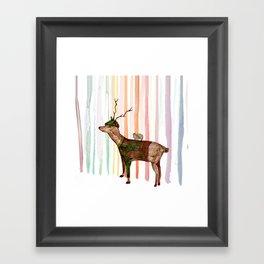 Rainbow forrest Framed Art Print