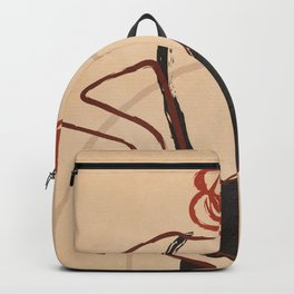 Abstract Minimal Woman Backpack