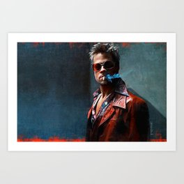 Painting Illustration Of Tyler Smoking A Cigarette - Fight Art Print