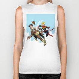 Superhero defeats the Groper Biker Tank