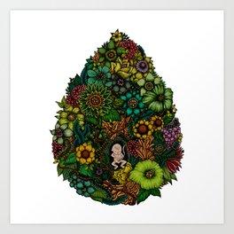 "Floral Uterus ""緑(ROKU)"" Art Print"