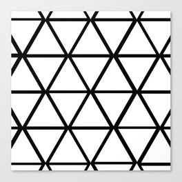 WHITE & BLACK TRIANGLES  Canvas Print