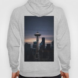 Space Needle Sunset - Seattle Nights Hoody