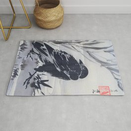 Crow And Reeds By A Stream - Digital Remastered Edition Rug